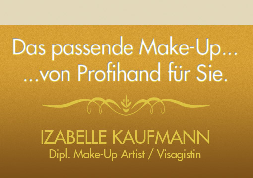 Make-Up Artist, Visagistin, Izabelle Kaufmann